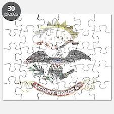 North Dakota Vintage State Flag Puzzle