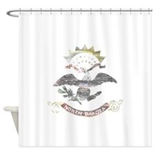 North Dakota Vintage State Flag Shower Curtain