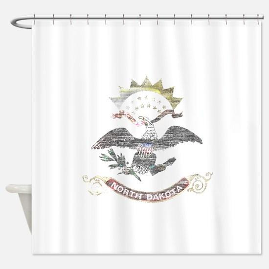 North Dakota Vintage State Flag Shower Curtain