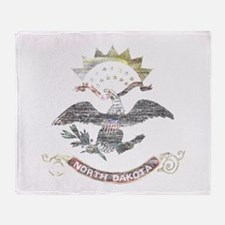 North Dakota Vintage State Flag Throw Blanket
