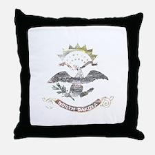 North Dakota Vintage State Flag Throw Pillow