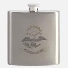 North Dakota Vintage State Flag Flask