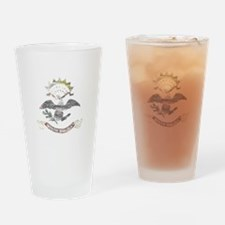 North Dakota Vintage State Flag Drinking Glass