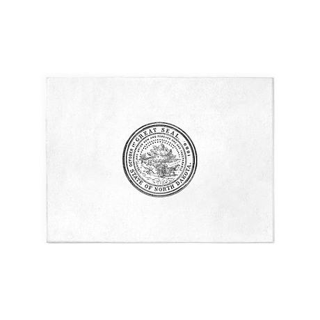 North Dakota Seal 5'x7'Area Rug