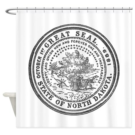 North Dakota Seal Shower Curtain