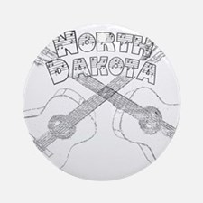 North Dakota Guitars Ornament (Round)