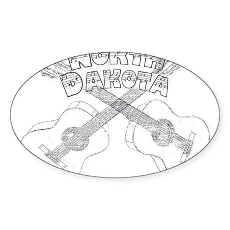 North Dakota Guitars Sticker