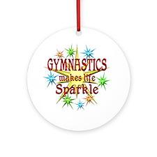 Gymnastics Sparkles Ornament (Round)