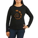 Death Spiral Women's Long Sleeve Dark T-Shirt