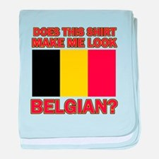 Belgian flag designs baby blanket