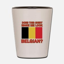 Belgian flag designs Shot Glass