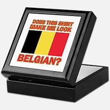 Belgian flag designs Keepsake Box