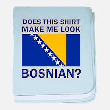 Bosnian flag designs baby blanket