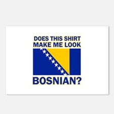 Bosnian flag designs Postcards (Package of 8)
