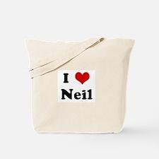 I Love Neil Tote Bag