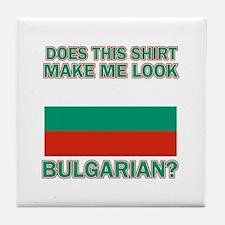 Bulgarian flag designs Tile Coaster