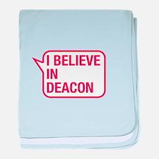 I Believe In Deacon baby blanket