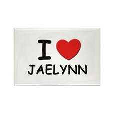 I love Jaelynn Rectangle Magnet