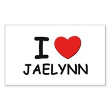 I love Jaelynn Rectangle Decal
