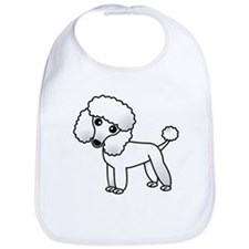 Cute White Poodle Bib