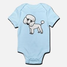 Cute White Poodle Body Suit