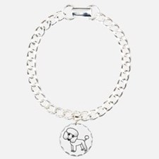 Cute White Poodle Bracelet