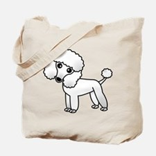 Cute White Poodle Tote Bag