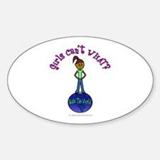 Dark Rule The World Oval Decal