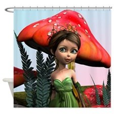 Fairy in Woodland Shower Curtain
