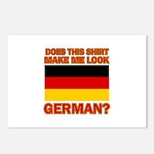German flag designs Postcards (Package of 8)