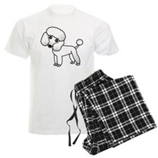Cute White Poodle Pajamas