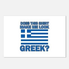 Greek flag designs Postcards (Package of 8)