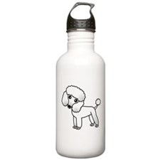 Cute White Poodle Water Bottle