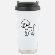 Cute White Poodle Travel Mug