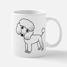 Cute White Poodle Mug