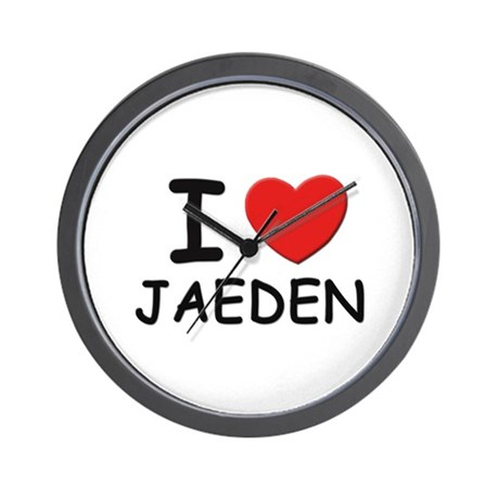 I love Jaeden Wall Clock
