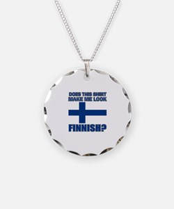 Finnish flag designs Necklace