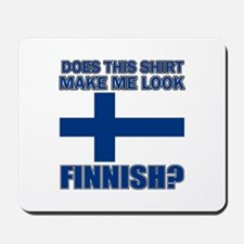 Finnish flag designs Mousepad