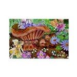 Fairies and Mushrooms Rectangle Magnet (10 pack)