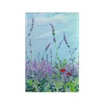 Lavender & Poppies Rectangle Magnet (10 pack)