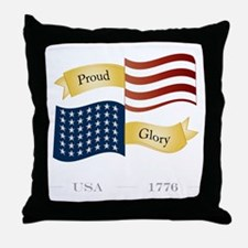 Patriot Pride and Glory Throw Pillow