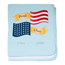 Patriot Pride and Glory baby blanket