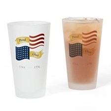 Pride Glory Patriotism Drinking Glass