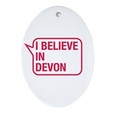 I Believe In Devon Ornament (Oval)