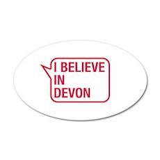 I Believe In Devon Wall Decal