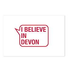 I Believe In Devon Postcards (Package of 8)