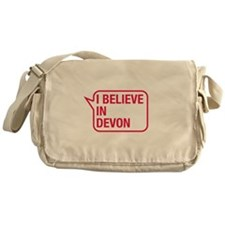 I Believe In Devon Messenger Bag