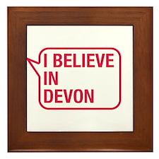 I Believe In Devon Framed Tile