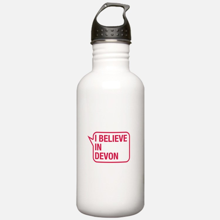 I Believe In Devon Water Bottle