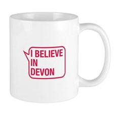 I Believe In Devon Small Mugs